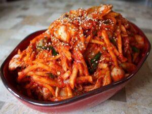 kimchi en plato