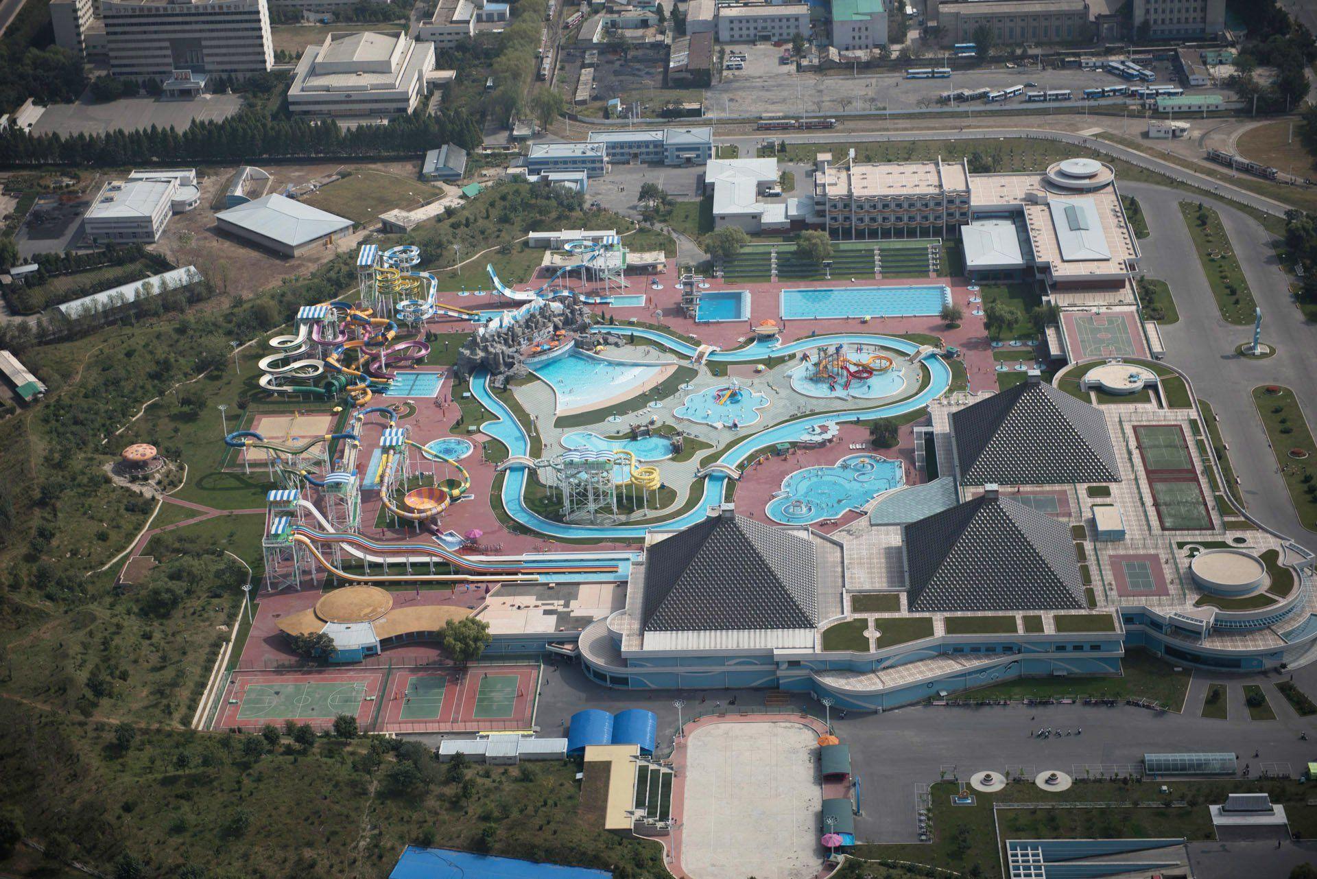 Munsu Water Park vista desde el aire