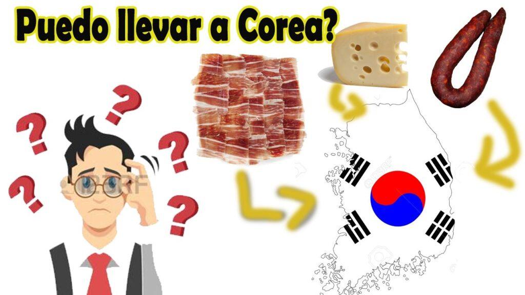 alimentos que se pueden llevar a corea