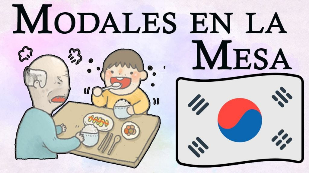 modales en la mesa coreana