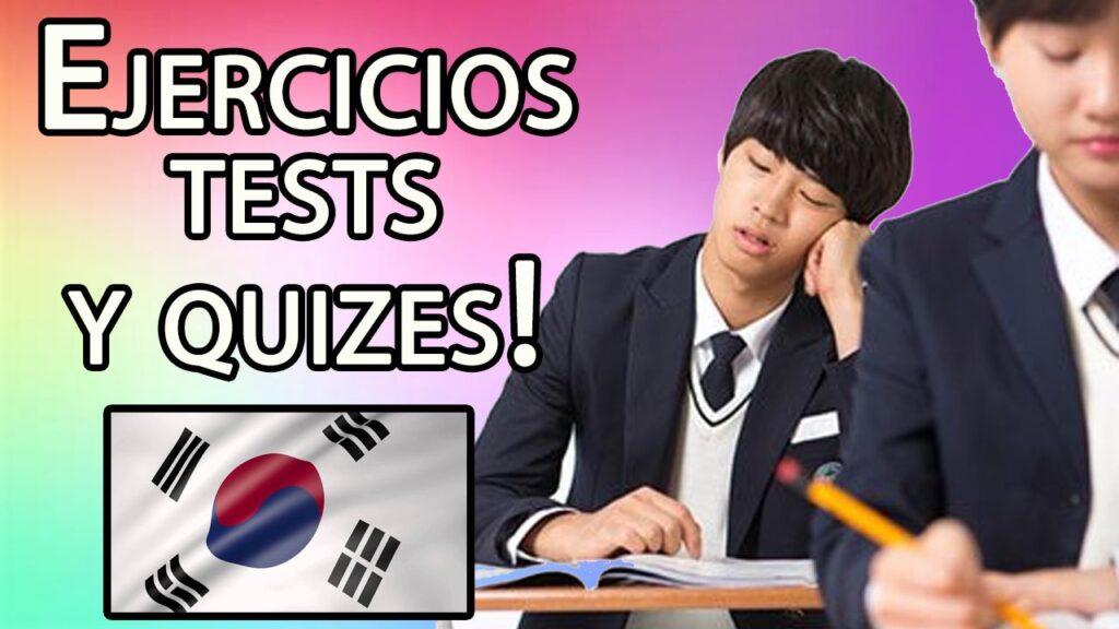 ejercicios testy quizes coreanos