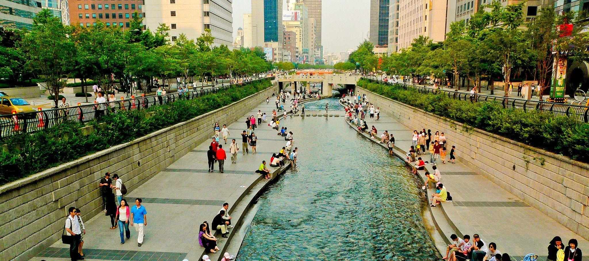 arroyo Cheong Gye Cheon en Seul
