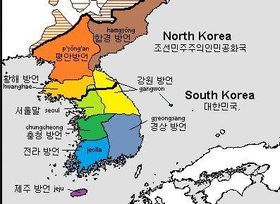 dialectos de corea