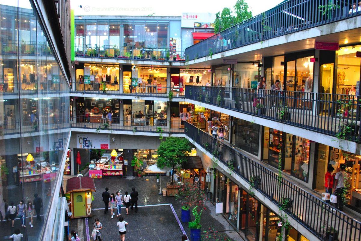 los pisos del mercado insadong