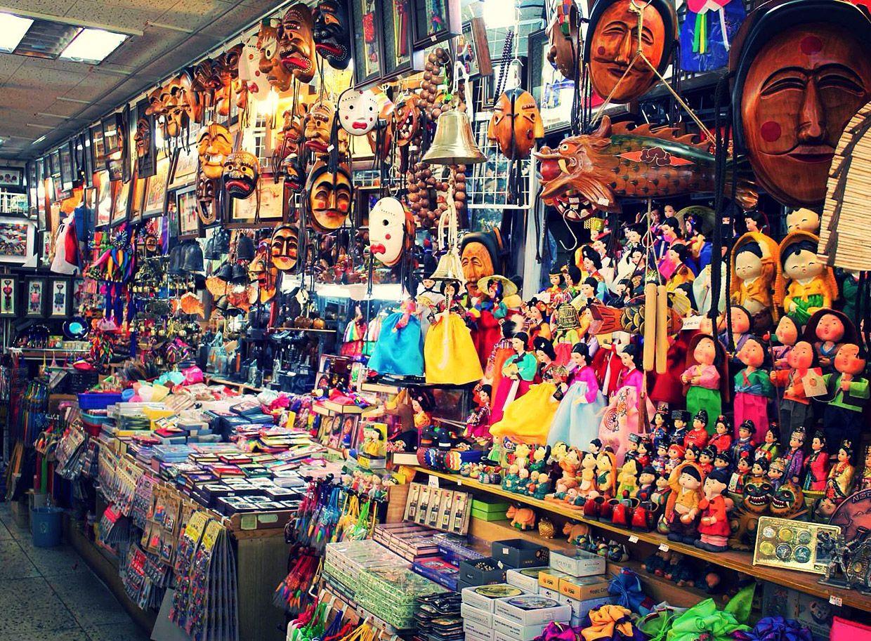 souvenirs-en-el-mercado-de-namdaemun en seul