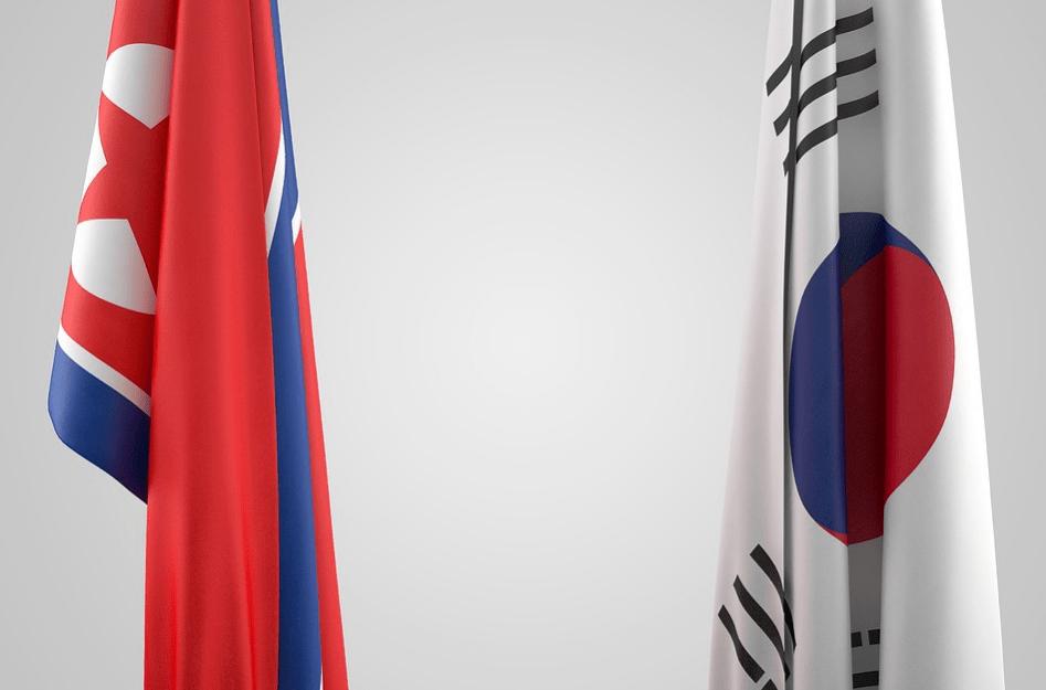 banderas de corea del norte y corea del sur