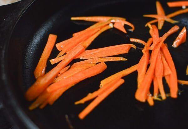 saltear zanahorias