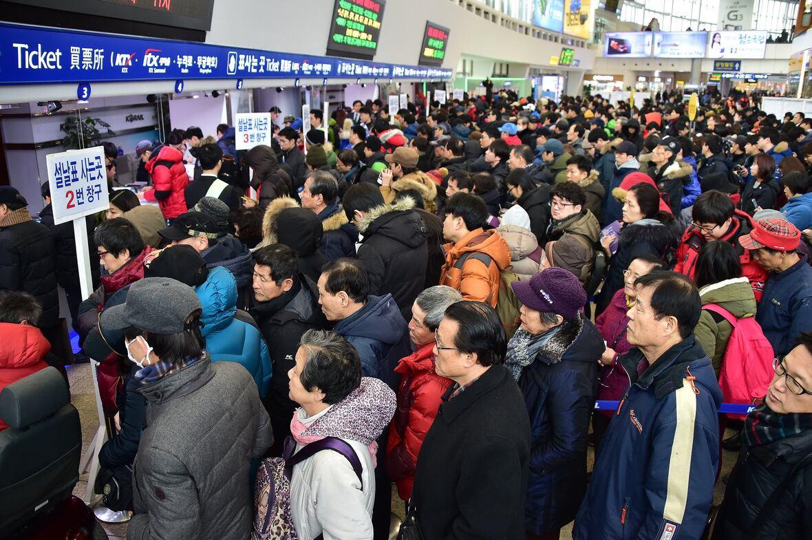 seollal gente corea del sur